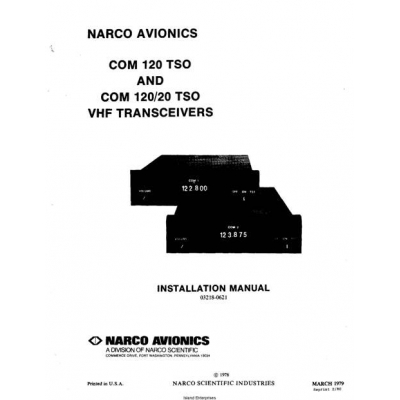 Narco   120 Tso And   12020 Tso Vhf Transceivers Installation Manual 1979 995 P 7952 on model aircraft engines