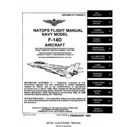Grumman F-14D Tomcat Aircraft Natops Flight Manual/POH 1997