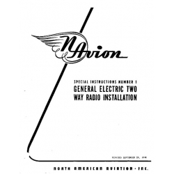 Navion Special Instructions General Electric Two Way Radio Installation Manual $9.95