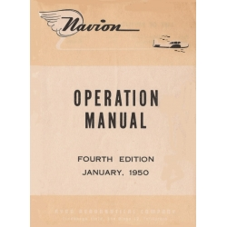 Navion 205 Operation Manual 1950 $13.95