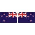 "New Zealand Flag Decal Vinyl/Sticker 4.5"" wide x 3''high!"