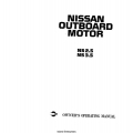 Nissan NS 2.5 and 3.5 Outboard Motor Owner's Operating Manual 1997 $9.95