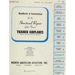 North American AT-6A, AT-6B, AT-6C, SNJ-3 and SNJ-4 Texan Airplane Repair Manual No. NA-5614 1943 $19.95