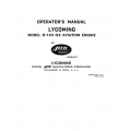 Lycoming Operator's Manual  O-145-B2 Aviation Engine $13.95