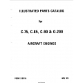 Continental C-75, C-85, C-90 & 0-200 1979 Illustrated Parts Catalog FORM X-30011A $9.95
