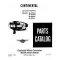 Continental Parts Catalog F-080 O-470-A-B-E & J $13.95
