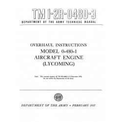 Lycoming Overhaul Instructions O-480-1 $13.95