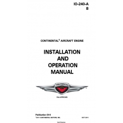 Continental IO-240-A & B Series Engine Installation and Operation Manual OI-6 $19.95
