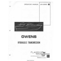 Flagship Owens OW Series Hydraulic Transmission Operator's Manual $4.95
