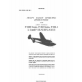 Lockheed P-38H Series, P-38J Series, P-38L-1 L-5 and F-5B Lightning Army Models Airplanes Pilot's Flight Operating Instructions $4.95