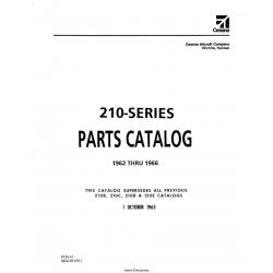 Cessna Model 210 Series (1962 thru 1966) Parts Catalog Temporary Revision Number P326TR1-12 $29.95