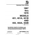 Cessna Models 401, 401A, 401B, and 402, 402A, 402B Parts Catalog (1967 Thru 1978) P499-12-12 $29.95