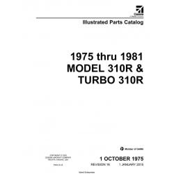 Cessna Model 310R & Turbo 310R Illustrated Parts Catalog (1975 Thru 1981) P533-16-12 $29.95