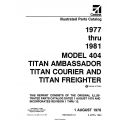 Cessna Model 404 Titan Illustrated Parts Catalog (1977 Thru 1981) P559-13-12