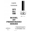 Cessna Model 337 Pressurized Series Parts Catalog (1973 Thru 1980) Temporary Revision Number P608-12 $29.95