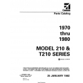 Cessna Model 210 & T210 Series (1970 Thru 1980) Parts Catalog P637-12 $29.95