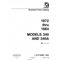 Cessna Model 340 and 340A Illustrated Parts Catalog (1972 Thru 1984) P653-2-12 $29.95
