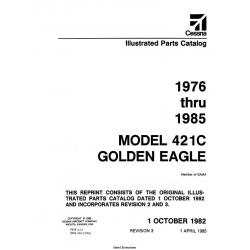 Cessna Model 421C Golden Eagle Illustrated Parts Catalog (1976 Thru 1985) P654-3-12 $29.95