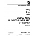 Cessna Model 402C Businessliner and Utililiner Illustrated Parts Catalog (1979 Thru 1985) P655-3-12 $29.95