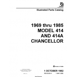 Cessna Model 414 and 414A Chancellor Illustrated Parts catalog (1969 Thru 1985) P656-4-12