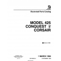 Cessna Model 425 Conquest I/ Corsair Illustrated Parts Catalog P670-2-12 $29.95