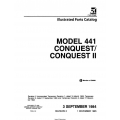 Cessna Model 441Conquest/ Conquest II   Illustrated Parts Catalog P674-2-12 $29.95