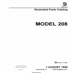 Cessna Model 208 Illustrated Parts Catalog P688-22-12 $35.95
