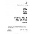 Cessna Model 182 & T182 Series Illustrated Parts Catalog (1974 Thru 1986) P690-12