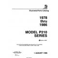 Cessna Model P210 Series Illustrated Parts Catalog ( 1978 Thru 1986) P697-12  $29.95