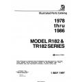 Cessna Model R182 & TR182 Series Illustrated Parts Catalog (1978 Thru 1986) P701-12 $29.95