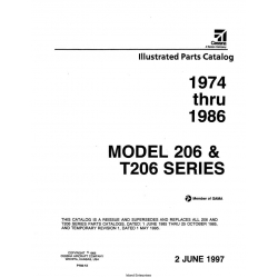 Cessna 206 & T206 Series (1974 THRU 1986) Illustrated Parts Catalog P702-12