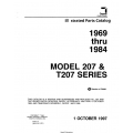 Cessna 207 & T207 Series 1969 thru 1984 Illustrated Parts Catalog 1997 P703-12 $29.95