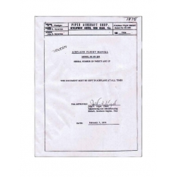 Pawnee PA-25-235 Flight Manual $9.95