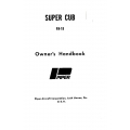 Piper Super Cub PA-18 Owner's Handbook 1961-1977 $ 6.95