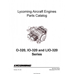 Lycoming o-320, IO-320 and LIO-320 Parts Catalog PC-103  $19.95
