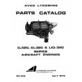 Lycoming Parts Catalog PC-103 O-320, IO-320 & LIO-320 $13.95