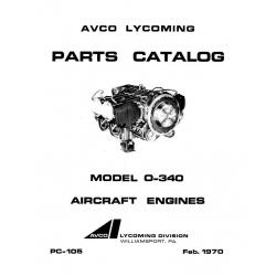 Lycoming Parts Catalog PC-105 Model O-340 $13.95