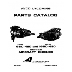 Lycoming Parts Catalog PC-114 GSO-480 & IGSO-480 Series $13.95