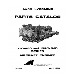 Lycoming Parts Catalog PC-116-3 IGO-540 and IGSO-540 $13.95