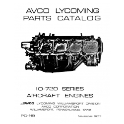 Lycoming Parts Catalog PC-119 IO-720 Series $13.95