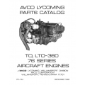 Lycoming Parts Catalog PC-124-1 TO-360 & LTO-360 76 Series $13.95
