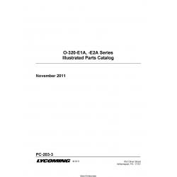 Lycoming O-320-E1A,E2A Series Illustrtared Parts Catalog PC-203-3 $19.95