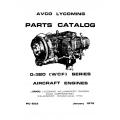 Lycoming Parts Catalog PC-203 O-320 [WCF] Series $13.95