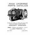 Lycoming Parts Catalog PC-303 IO-AIO-LIO & AEIO-320 $13.95