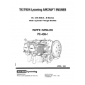 Lycoming Parts Catalog PC-406-1C IO-AIO-AEIO-360-A, -B $13.95