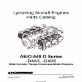 Lycoming Parts Catalog AEIO-540-D Series PC-615-11 $13.95