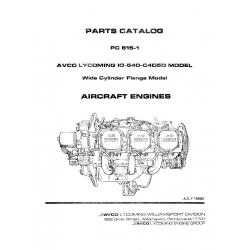 Lycoming Parts Catalog PC-615-1 IO-540-C4D5D $13.95