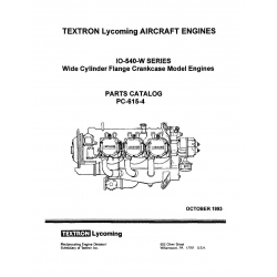 Lycoming Parts Catalog PC-615-4 IO-540-W Series $13.95