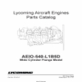 Lycoming Parts Catalog AEIO-540-L1B5D PC-615-7 $13.95