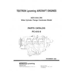 Lycoming Parts Catalog PC-615-9 AEIO-540-L1B5 $13.95